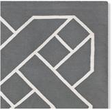 Basketweave Indoor/Outdoor Rug, Gray