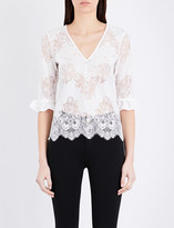 Claudie Pierlot Floral lace top