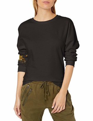 Armani Exchange A|X Women's Classic Pullover Sweater with Chrome Logo