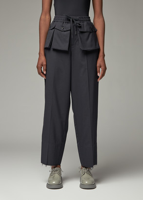 Yohji Yamamoto Y's by Women's Pocket Pant in Navy Size 2