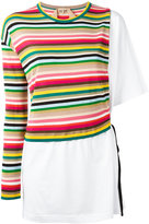 No.21 striped knitted T-shirt