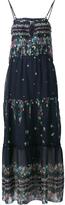 Sea Ruffled Long Dress