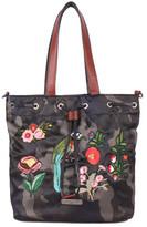 Nicole Lee Women's Krissy Camouflage Embroidery Bucket Bag