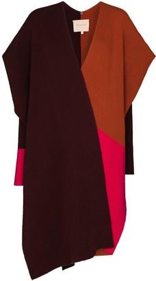 Roksanda Noa colour-block asymmetric cape