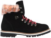 Mr & Mrs Italy 30mm Suede & Mink Fur Hiking Boots