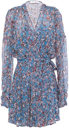 IRO Bustle Printed Mini Wrap Dress