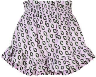 Cynthia Rowley Birdie smocked flutter shorts