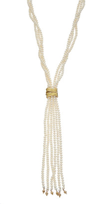 Michael Aram Palm 18K Yellow Gold Pearl Necklace
