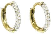 Jennifer Meyer Three Row Diamond Mini Hoop Earrings