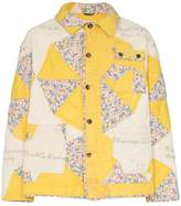 Bode Patchwork Flower quilted cotton jacket