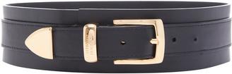 Brandon Maxwell Wide Leather Waist Belt