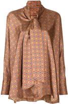 ASTRAET tile print blouse