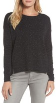 Caslon Women's Pleat Back High/low Crewneck Sweater
