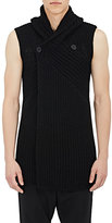 Rick Owens Men's Cotton Sleeveless Cardigan