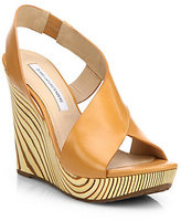 Diane von Furstenberg Sunny Leather Wedge Sandals