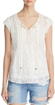 Daniel Rainn Short Sleeve Peasant Blouse
