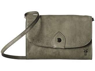 Frye Melissa Wallet Crossbody (Beige) Cross Body Handbags