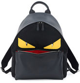 Fendi Monster Eyes Leather/Nylon Backpack