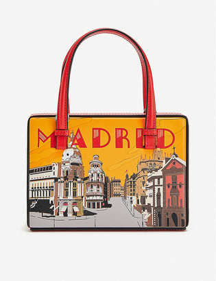 Loewe Postal Madrid small leather shoulder bag