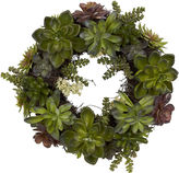Asstd National Brand Nearly Natural 20 Succulent Wreath