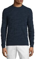 Michael Kors Camo-Print Long-Sleeve Crewneck Sweater, Midnight