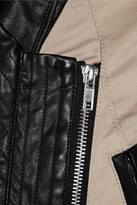 Walter W118 by Baker Miles cotton and faux leather jacket