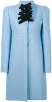 Rochas bow detail coat