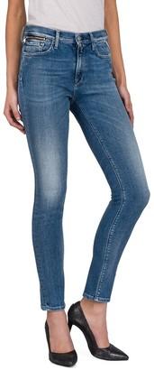 Replay Women's Zackie Skinny Jeans Blue (Mid Blue Denim 10) W26/L30