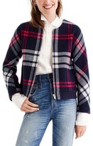 J.Crew Women's Plaid Wool Bomber