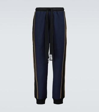 Loewe Striped cotton fleece trackpants