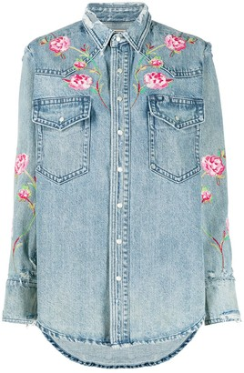 Polo Ralph Lauren Floral Embroidered Denim Shirt