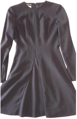 Jacques Fath Black Wool Dress for Women Vintage