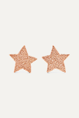 Carolina Bucci Superstellar 18-karat Rose Gold Earrings - one size