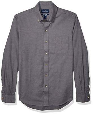 Buttoned Down Amazon Brand Men's Slim Fit Supima Cotton Brushed Twill Plaid Sport Shirt