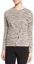 Armani Collezioni Animal-Print Zip-Front Jacket, Natural Multi