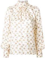Marc Jacobs floral high neck blouse