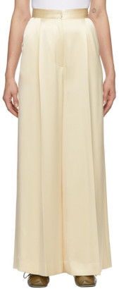 Loewe Off-White Satin Wide-Leg Trousers