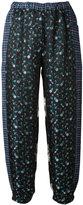 Hache metallic floral print trousers - women - Acetate/Viscose/Cotton - 38