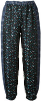 Hache metallic floral print trousers