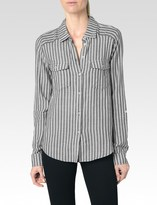 Paige Mable Shirt - Black/White Caldwell Stripe
