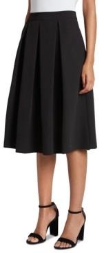 Tahari ASL Box-Pleat Midi Skirt