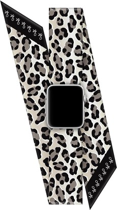 Wristpop Grey Leopard 38mm/40mm Apple Watch Scarf Band