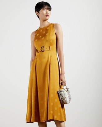 Ted Baker A-line Belted Midi Dress