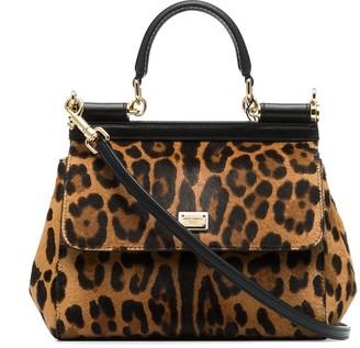 Dolce & Gabbana small Sicily leopard-print tote