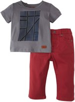 7 For All Mankind Standard W/Graphic Tee (Baby) - Rustic Red-0-3 Months