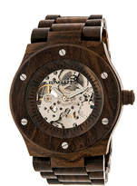 Earth Wood Grand Mesa Automatic Dark Brown Bracelet Watch ETHEW3102