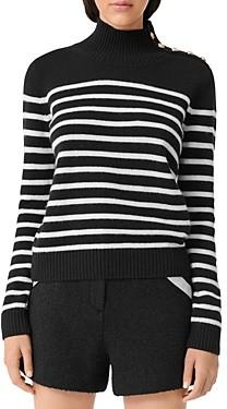 Maje Montsi Striped Cashmere Sweater