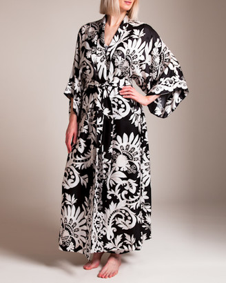 Josie Natori Mantilla Scroll Long Robe