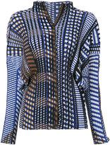Issey Miyake geometric print plissé blouse - women - Polyester - 2