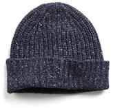 Todd Snyder Ribbed Knit Hat in Navy
